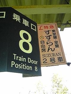 北海道JR乗車口表示の?